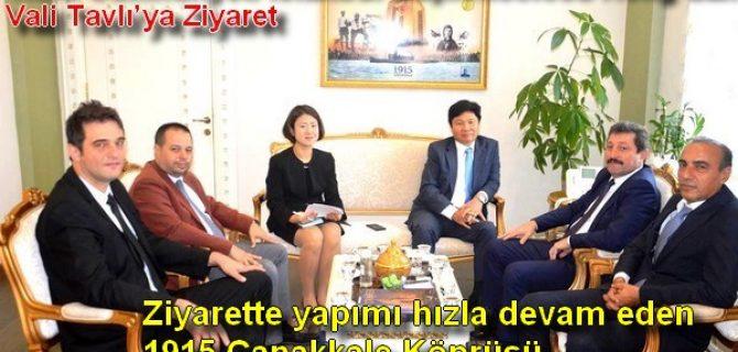 Kore Cumhuriyeti İstanbul Başkonsolosu Hong'dan Vali Tavlı'ya Ziyaret