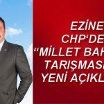 """EZİNE CHP 'DEN """"MİLLET BAHÇESİ"""" TARIŞMASINDA YENİ AÇIKLAMA"""