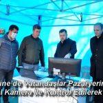 Ezine'de Vatandaşlar Pazaryerine Termal Kamera İle Kontrol Edilerek Alındı